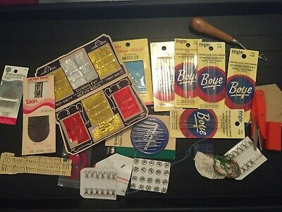Lot of Vintage Sewing Notions Needles Quilting Cross Stitch Pins Boye Golden Eye