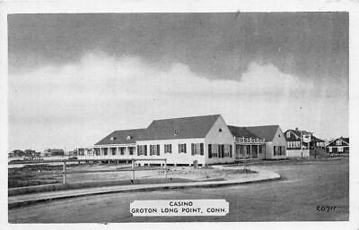 GROTON LONG POINT, CT Connecticut  CASINO  Fishers Island Sound  1944 Postcard