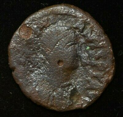 RARE BYZANTINE JUSTIN II COIN SESTERTIUS - VG CONDITION - 40 NUMMI 30MM 15gr