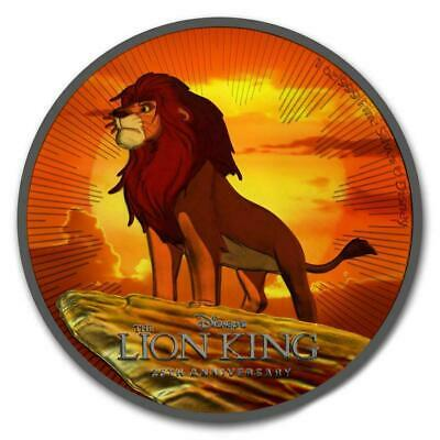 Niue 2019 $2 The Lion King - Ruthenium 1 Oz Silver Coin