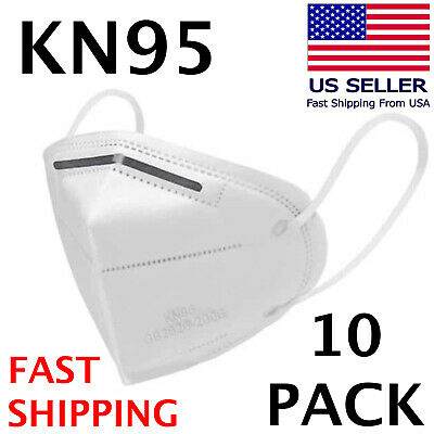 10 PACK KN95 Face Mask KN 95 Disposable Medical Surgical Mouth Cover Respirator