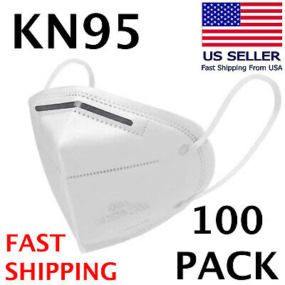 100 PACK KN95 Face Mask KN 95 Disposable Medical Surgical Mouth Cover Respirator