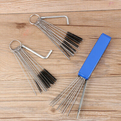 Carb Dirt Jet Bong Cleaner Tool Set Carburetor Cleaning 20 Needle 13 Wires Brush