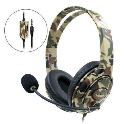 3.5mm Gaming Headset Wired Headphone Stereo with Microphone For PS4 XBOX ONE
