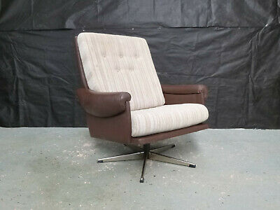 EB575 Danish Swivel Chair Vintage Retro Mid-Century Modern Lounge Seating