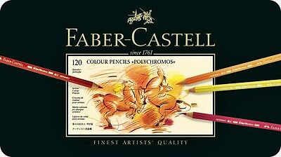 Coloured pencils POLYCHROMOS 120 colours Faber-Castell 110011 in metal box