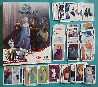 Album vide Reine Neiges + 1 set complet 72 cartes Carrefour 2019 PANINI