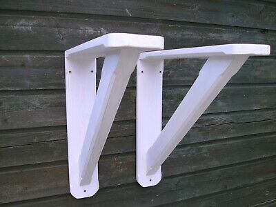wooden brackets large rustic shelf wall brackets(PAIR)
