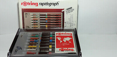 -------- Rotring Rapidograph  \  College Set  \  8  Complete Pens ------------