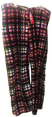 Plaid Pink Blue Yellow Tarea By Rue 21 Plush Soft Pajama Lounge Pants Size XL