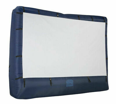 """39121-32 Airblown Movie Screen Inflatable W St NAVY & WHITE 144"""""""