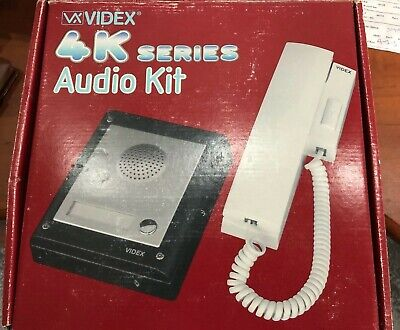 Videx 4K Series 4K-1S Audio Security Door Access Control Kit 1 Button Entry