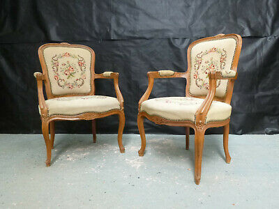 EB608 Pair of Carved Fruitwood Lounge Chairs Vintage Danish Retro