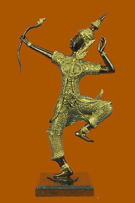 Gold Patina Rama Shooting Arrow For Decoration Bronze Sculpture Lost Wax Decor