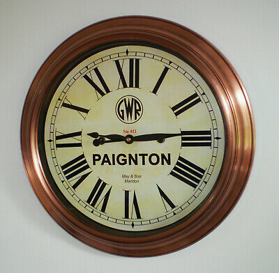 Great Western Railway, GWR Victorian Style Waiting Room Clock, Paington Station.