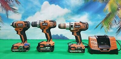 AEG 2 Drill and 1 Drive Cl Very good working  Condition with batteries
