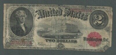 1917 United States $2 Two Dollar Red Seal Note - S244