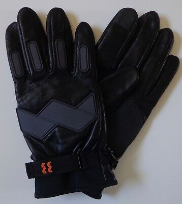 WALLS Outdoor Goods Men's Bionic Black Leather Gloves Size Large New
