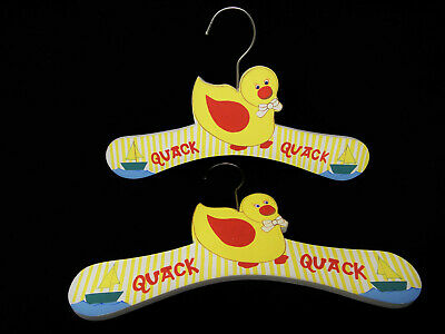 Baby Clothes Hangers 2 Handpainted Duck Sailboat Kids Toddler Child Nursery