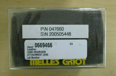 Melles Griot Invarigon 047660 Attachment Lens  NEW