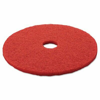 "3M 08395 Low-Speed Buffer Floor Pads 5100, 20"" Diameter, Red, 5/Carton"