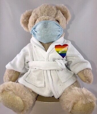 💙NHS SUPERHERO Dressing gown Teddy bear  PPE 10% Donation to CHARITY💙💙