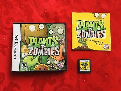 Plants vs. Zombies (Nintendo DS, 2011) Complete W/Manual - Great Game!!