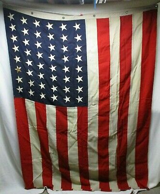Genuine 1943 WWII 48 Star US Battalion Ensign  American Flag from Mare Island