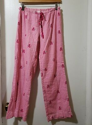 Victoria's Secret Women's Sleep Lounge Pajama Pants Pink Stripe Size XS Bears