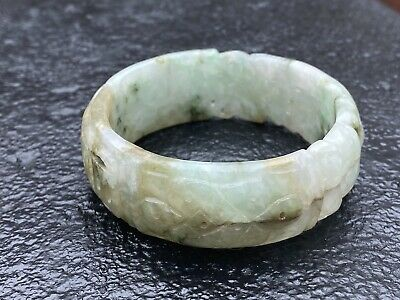 Grade A - Late 20th centuryJade bangle, of good size = 2.2 inch