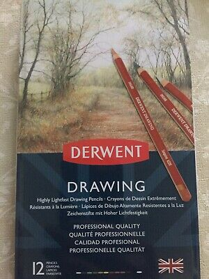 Derwent Coloured Drawing Pencils, Set of 12, Professional Quality, 700671 -