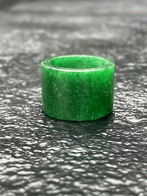 Vintage Jade Grade A Green Ring, very nice cut, slight ware due to the age