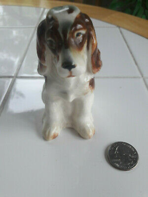 Ceramic Porcelain Hand Painted Springer Spaniel Dog Made in Japan