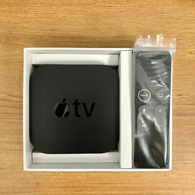 Apple TV 32GB 4K HD Media Streamer - Black (MQD22LL/A) W/ Remote and Power Cable