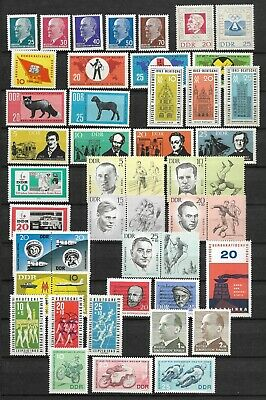 East-Germany/GDR/DDR: All stamps of 1963 in a year set complete, MNH