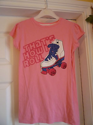 Girls Fab Soft Pink T-Shirt Age Age 12+ Years  32-33Cm Across. Mint