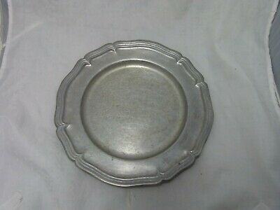 """Country Ware 1974 10.5"""" Pewter Plate 200 CW Solid Rare"""