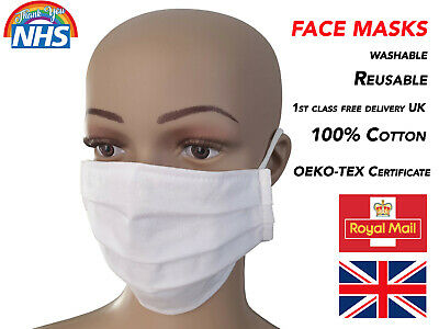 Washable Mouth Nose Cover NHS 100% OEKO-TEX Certificate High Quality