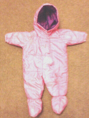 Girls pink all in one coat  / snowsuit from ladybird 3-6 months