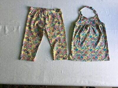 Next, age 10 years, 2-piece summer set, to the knee leggings and halter neck top