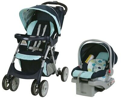 Graco Comfy Cruiser Travel System Stroller + Car seat  SnugRide Click Connect 30
