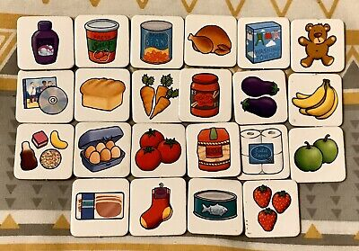 SHOPPING LIST Game Orchard Toys Spare Replacement Food Cards. 22 Available.