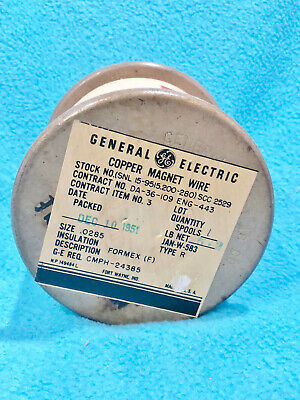 Vintage 1951 - General Electric Copper Magnet Wire - Size .0285 - New Old Stock