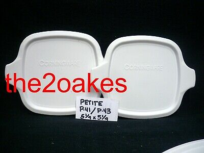2 Corning Ware Replacement Plastic Lid Cover P-43 P-41 Petite Pan Casserole Dish