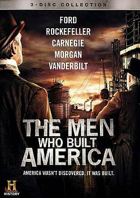 NEW! HISTORY CHANNEL'S The Men Who Built America [3 DVD SET]