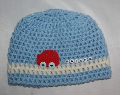 Crochet baby hat / personalized 0-3 years