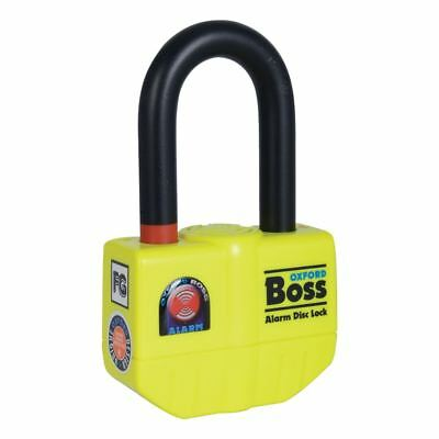 Oxford Motorcycle Motorbike Boss Removable Alarm Disc Lock - 14mm Yellow