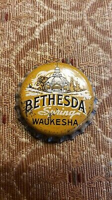 Vintage Bethesda Spring Waukesha Cork Bottle Cap New Old Stock