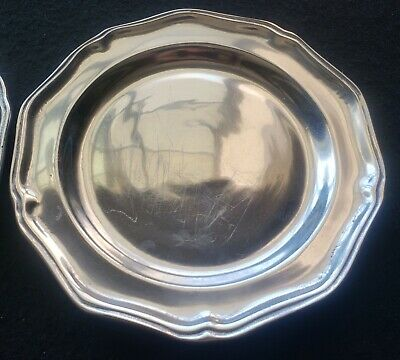 Wilton Armetale Pewter Columbia RWP Queen Anne Salad Luncheon Glossy Plate 9""