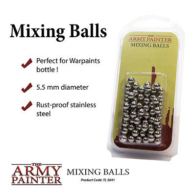 The Army Painter Stainless Steel Mixing Balls For Heavy Pigment Paints TL5041